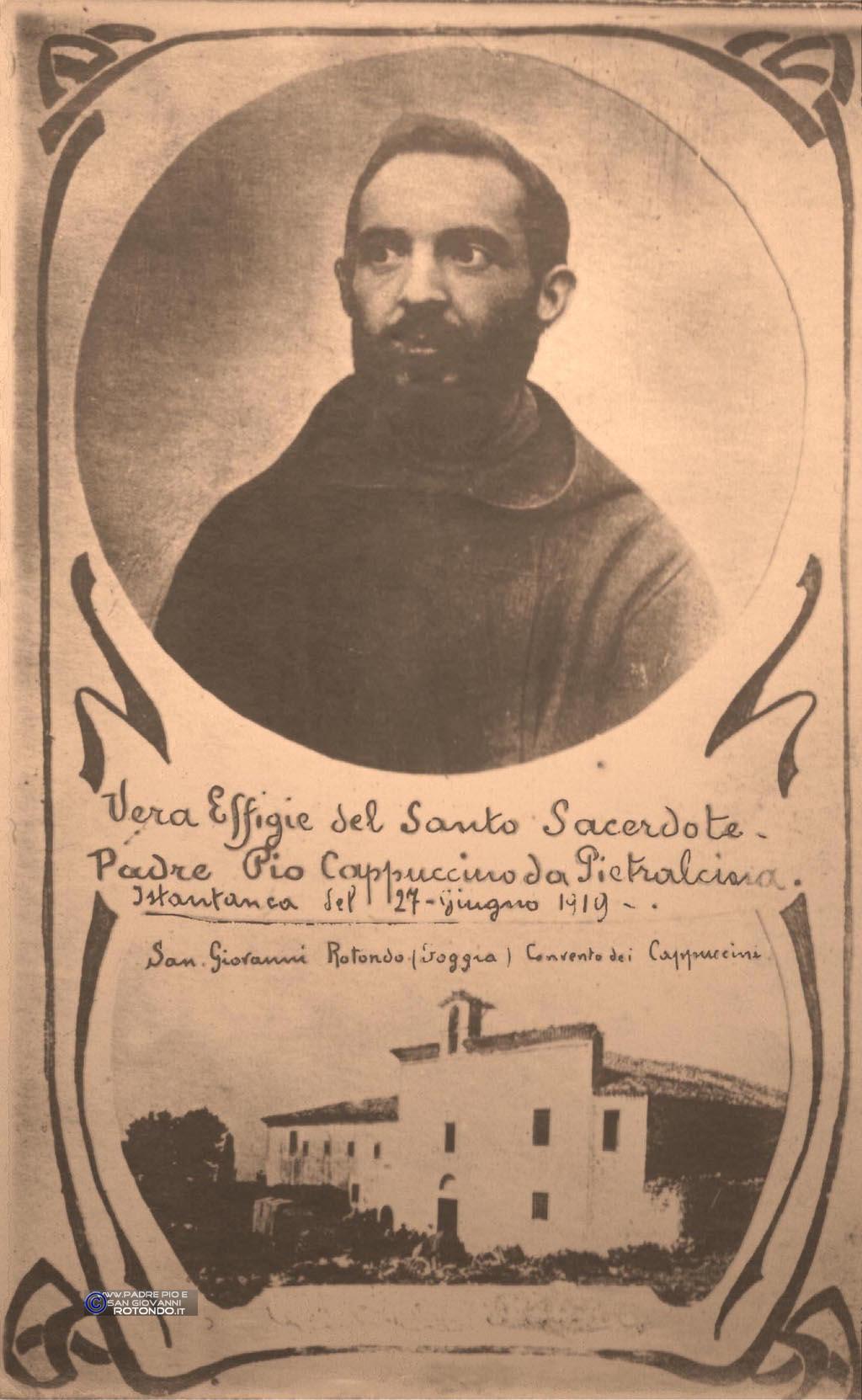 La Prima Effigie Pubblica Di  Padre Pio
