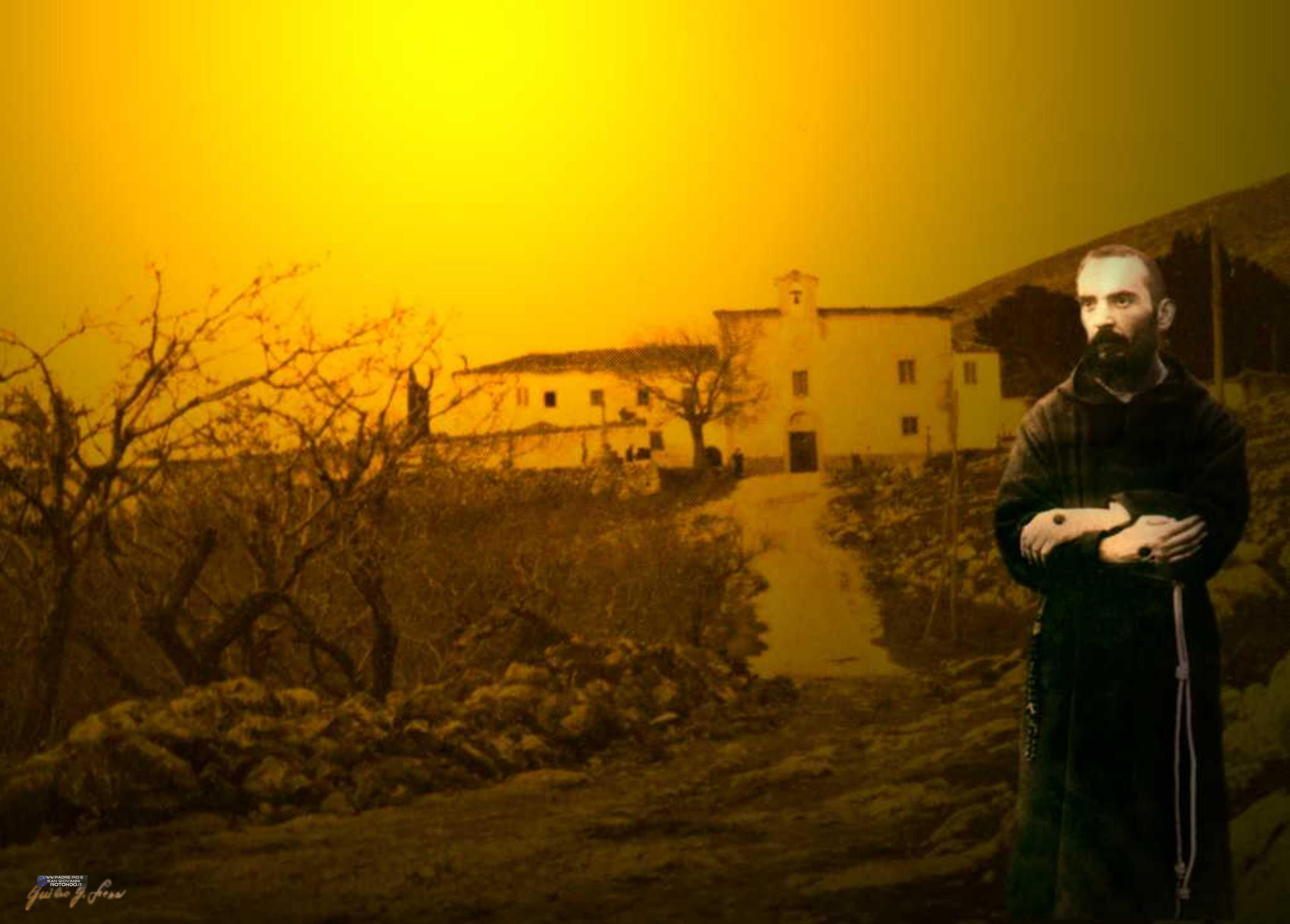 Padre Pio E Il Suo Convento - Fotomontaggio