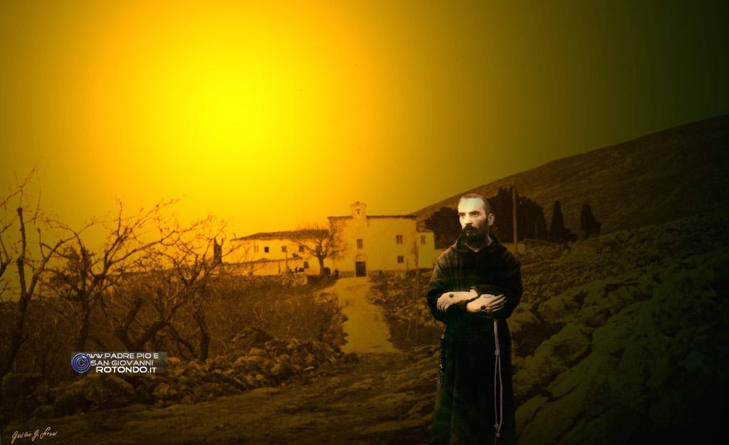 Il Giovane P.Pio E Il Suo Convento - Fotomontaggio