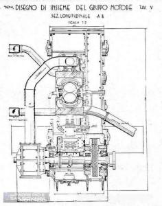 "Motore ""Siena"" - Sez. longitudinale."