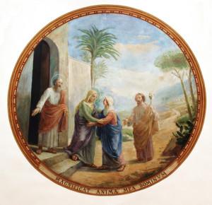 Dipinto di N. Penati che adorna la volta del sotto coro nella Chiesetta di Santa Maria delle Grazie dei Frati Cappuccini a San Giovanni Rotondo. Il dipinto rappresenta l'incontro di Maria SS. con Santa Elisabetta.